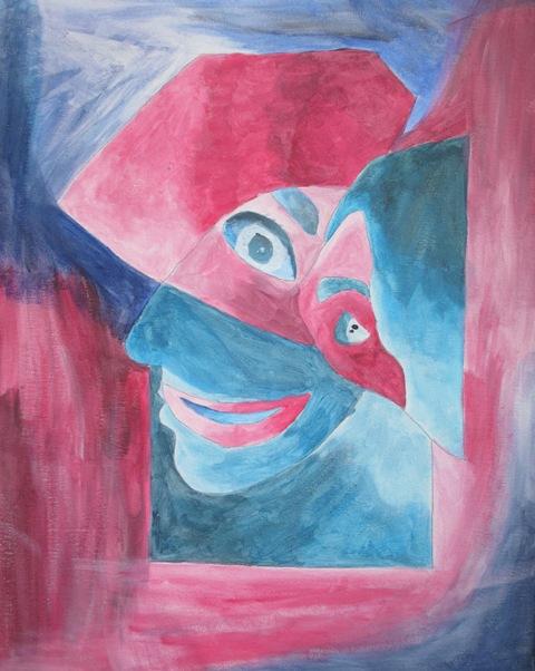 Schülerin der EF, Kubistisches Porträt